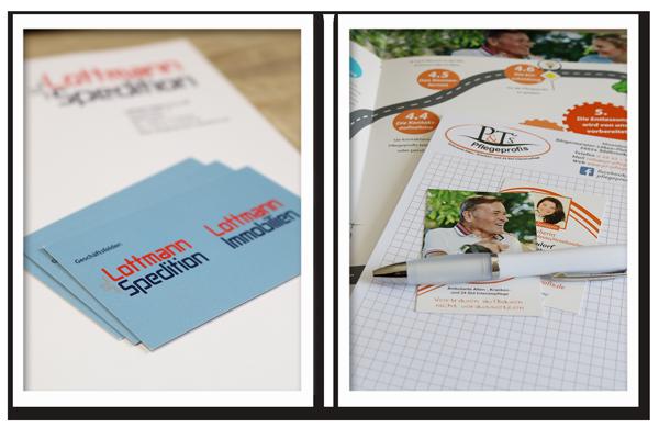 Briefpapier Visitenkarten Flyer Styles Werbetechnik Aurich